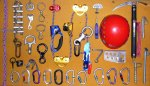 Climbing gear, old and new