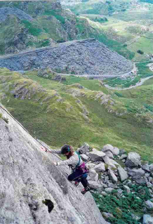 Climbing on the Moelwyn