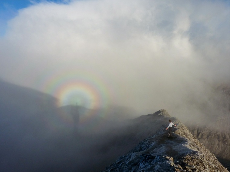 Brocken Spectre on Crib Goch