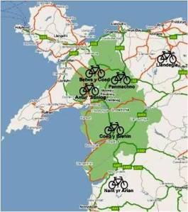 Biking Centres around Ffestiniog