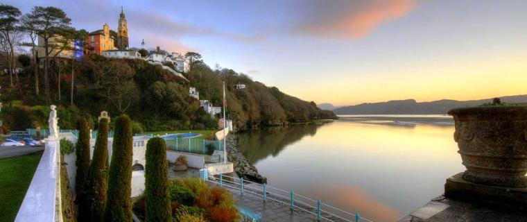 Portmeirion sunrise from hotel
