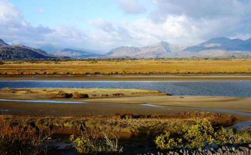 View from The Cob in Porthmadog