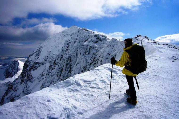 Snowdon summit in April