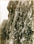Climbing with Hemp Rope and Nailed Boots