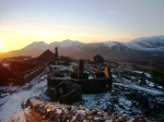 December sunset over Moelwyn