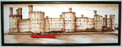 Caernarfon Castle by Malcolm Gwyon