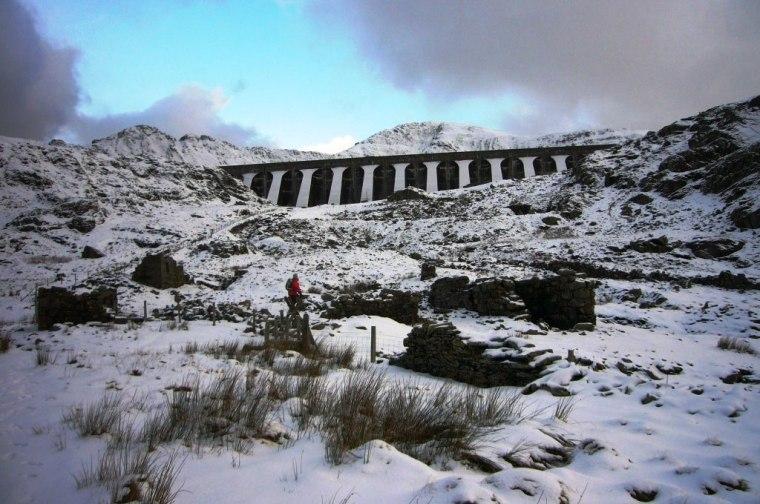Stwlan Dam in January