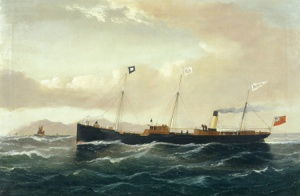 Cargo steamer Rebecca by William Howard Yorke